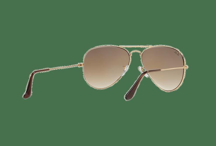 Ray Ban Aviador Gold lente Crystal Brown Gradient cod. RB3025 001/51 55 - Image 7