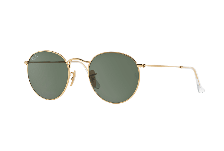 Ray-Ban Round Metal Gold lente Crystal Green cod. RB3447 001 50 - Image 1