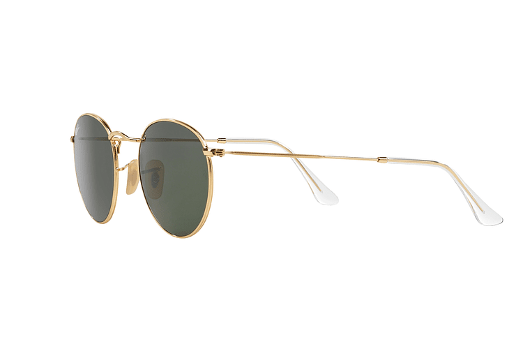 Ray-Ban Round Metal Gold lente Crystal Green cod. RB3447 001 50 - Image 2