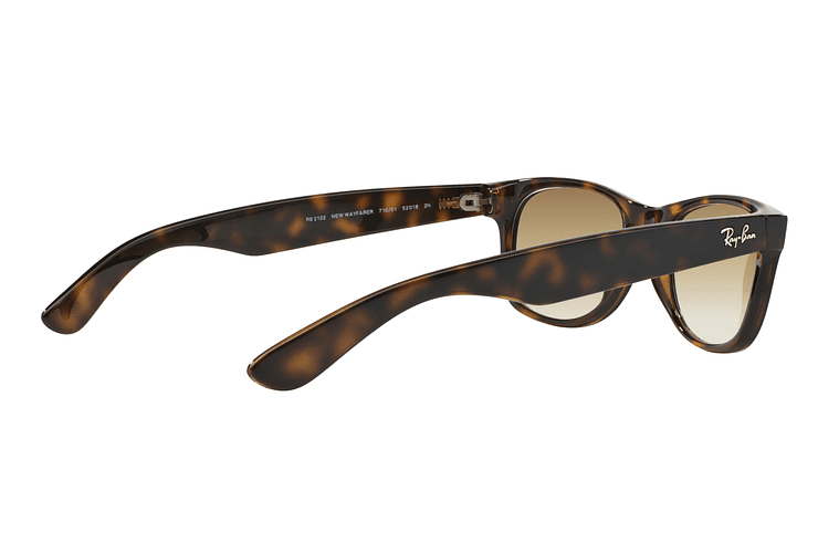 Ray Ban New Wayfarer Light Havana lente Crystal Brown Gradient cod. RB2132 710/51 55 - Image 8