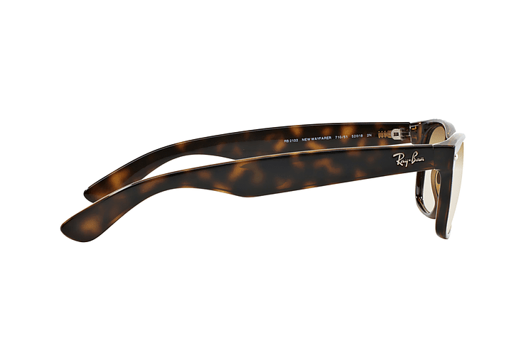 Ray Ban New Wayfarer Light Havana lente Crystal Brown Gradient cod. RB2132 710/51 55 - Image 9