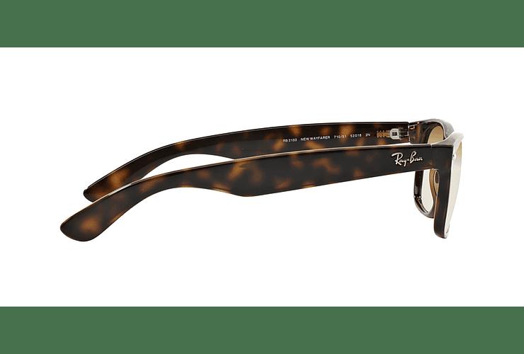 Ray Ban New Wayfarer Light Havana lente Crystal Brown Gradient cod. RB2132 710/51 55 - Image 9