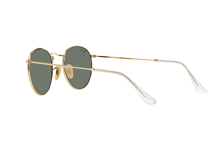 Ray-Ban Round Metal Gold lente Crystal Green cod. RB3447 001 50 - Image 4