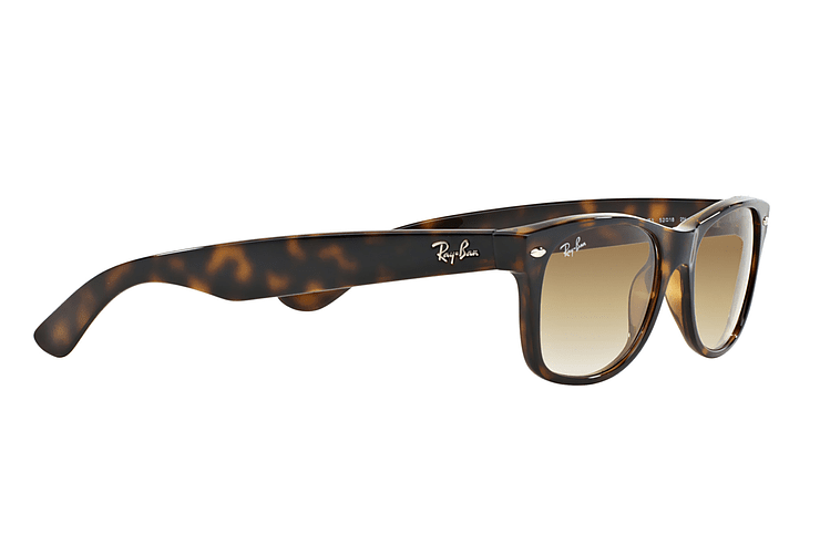Ray Ban New Wayfarer Light Havana lente Crystal Brown Gradient cod. RB2132 710/51 55 - Image 10