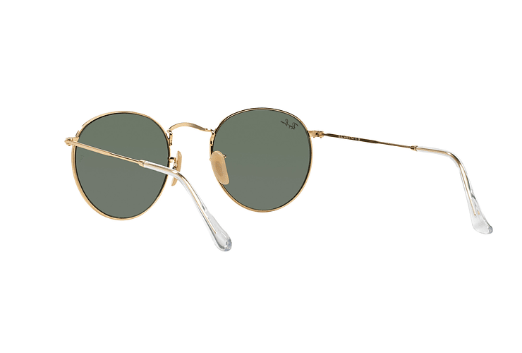 Ray-Ban Round Metal Gold lente Crystal Green cod. RB3447 001 50 - Image 5