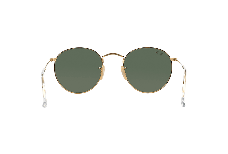 Ray-Ban Round Metal Gold lente Crystal Green cod. RB3447 001 50 - Image 6