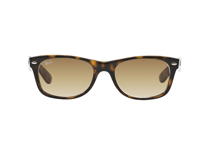 Ray Ban New Wayfarer Light Havana lente Crystal Brown Gradient cod. RB2132 710/51 55 - Image 12