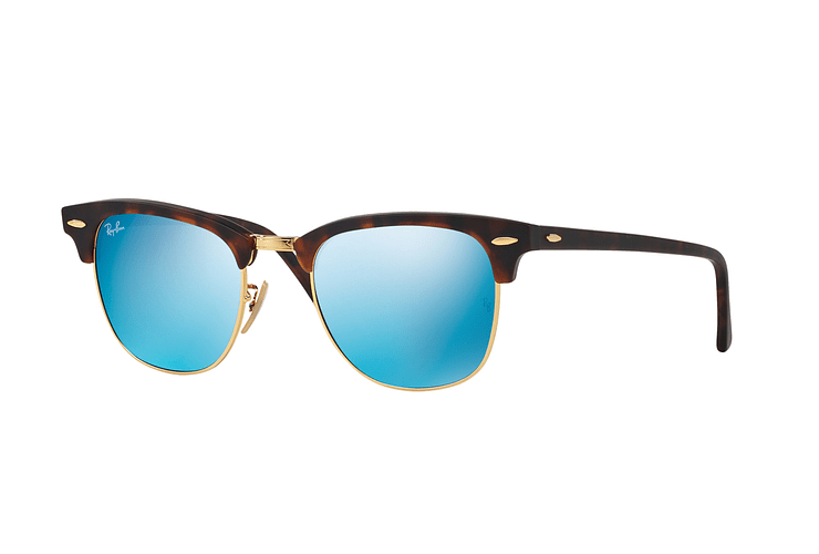 Ray Ban Clubmaster Sand Havana / Gold lente Blue Mirror cod. RB3016 114517 49 - Image 1