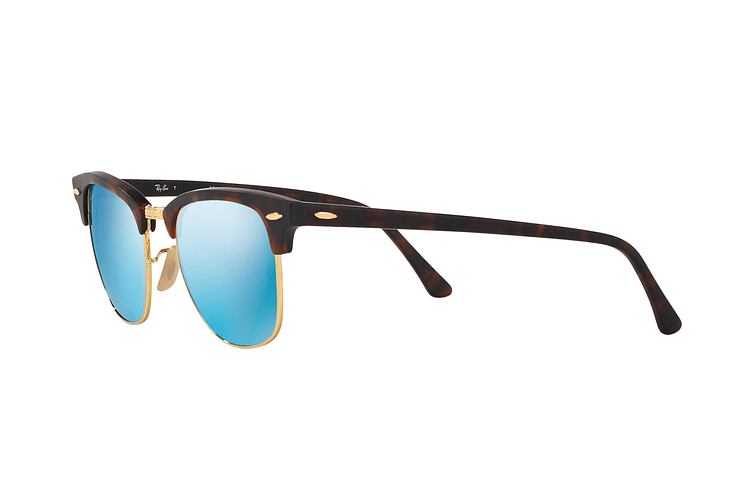 Ray Ban Clubmaster Sand Havana / Gold lente Blue Mirror cod. RB3016 114517 49 - Image 2
