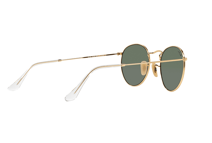 Ray-Ban Round Metal Gold lente Crystal Green cod. RB3447 001 50 - Image 8