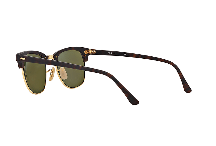 Ray Ban Clubmaster Sand Havana / Gold lente Blue Mirror cod. RB3016 114517 49 - Image 4