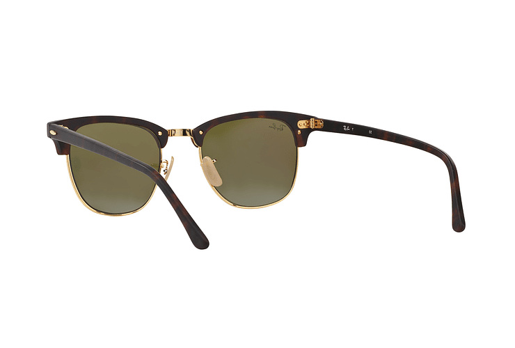 Ray Ban Clubmaster Sand Havana / Gold lente Blue Mirror cod. RB3016 114517 49 - Image 5