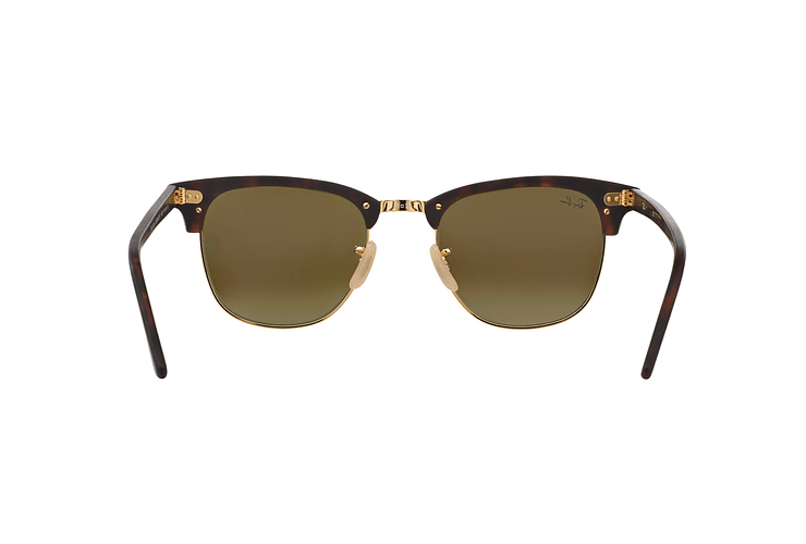 Ray Ban Clubmaster Sand Havana / Gold lente Blue Mirror cod. RB3016 114517 49 - Image 6