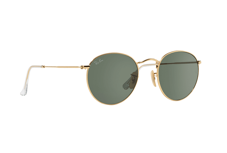 Ray-Ban Round Metal Gold lente Crystal Green cod. RB3447 001 50 - Image 11