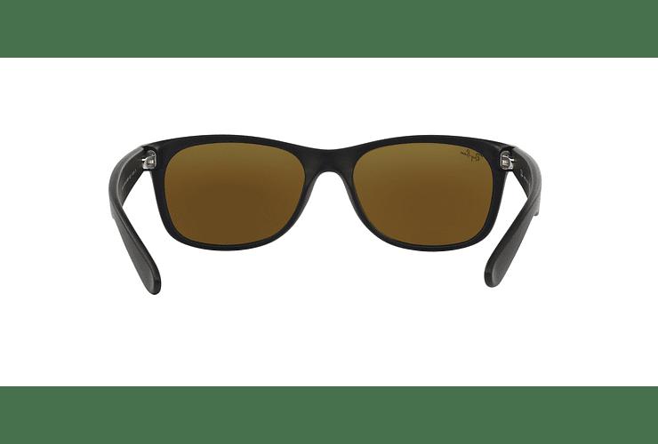 Ray Ban New Wayfarer Rubber Black lente Blue Mirror cod. RB2132 622/17 55 Desc25% - Image 6