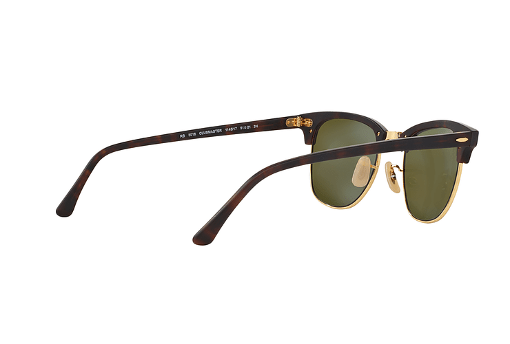 Ray Ban Clubmaster Sand Havana / Gold lente Blue Mirror cod. RB3016 114517 49 - Image 8
