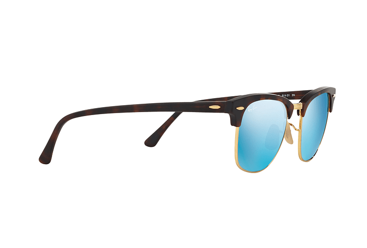 Ray Ban Clubmaster Sand Havana / Gold lente Blue Mirror cod. RB3016 114517 49 - Image 10