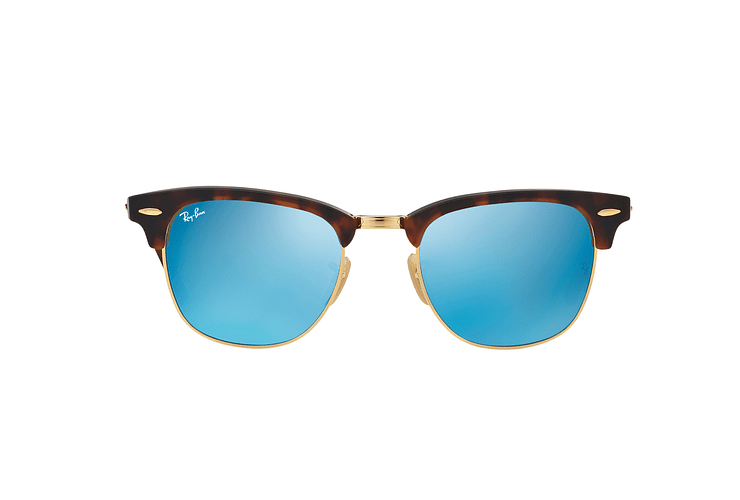 Ray Ban Clubmaster Sand Havana / Gold lente Blue Mirror cod. RB3016 114517 49 - Image 12