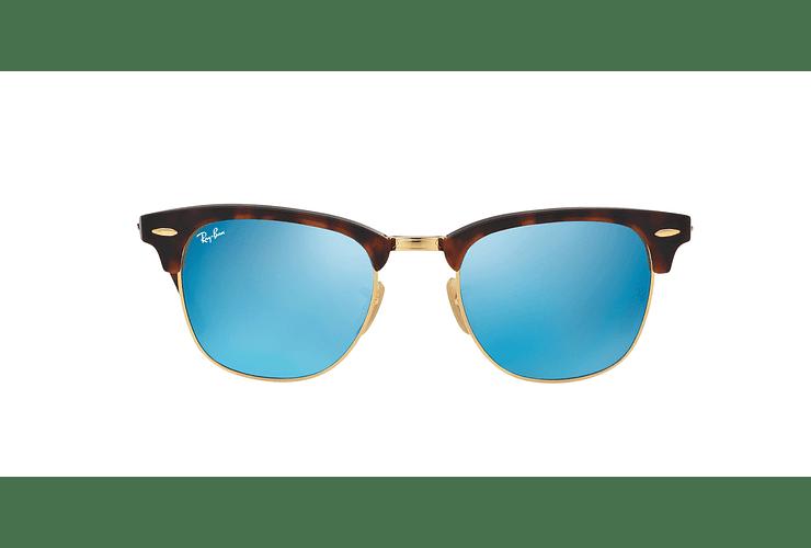 Ray Ban Clubmaster Sand Havana / Gold lente Blue Mirror cod. RB3016 114517 49 - Image 12
