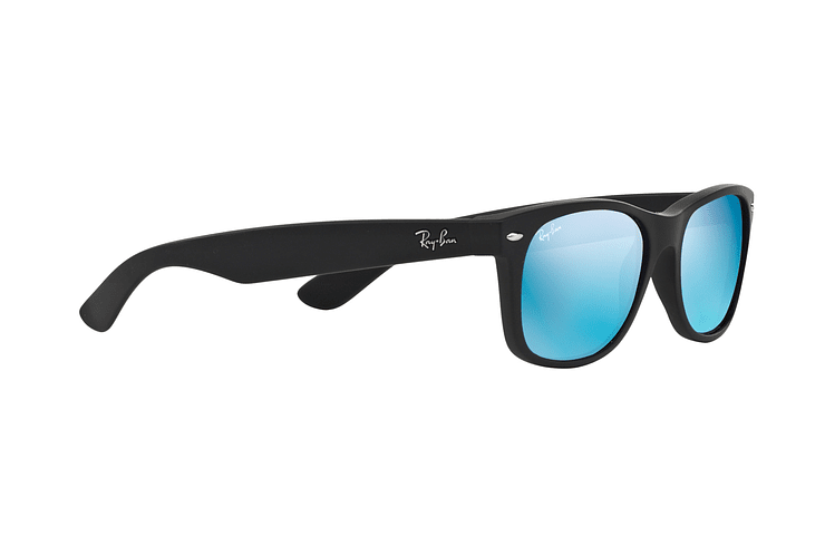 Ray Ban New Wayfarer Rubber Black lente Blue Mirror cod. RB2132 622/17 55 Desc25% - Image 10