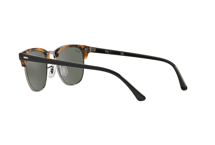 Ray Ban Clubmaster Spotted Black Havana lente Green cod. RB3016 1157 51 - Image 4