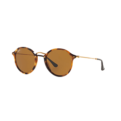 Ray-Ban Round Fleck Spotted Brown Havana lente Brown cod. RB2447 1160 49