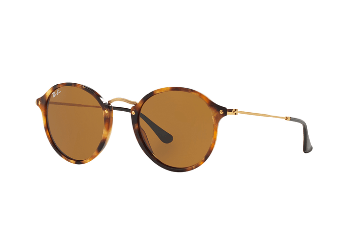 Ray Ban Round Fleck Spotted Brown Havana lente Brown cod. RB2447 1160 49 - Image 1