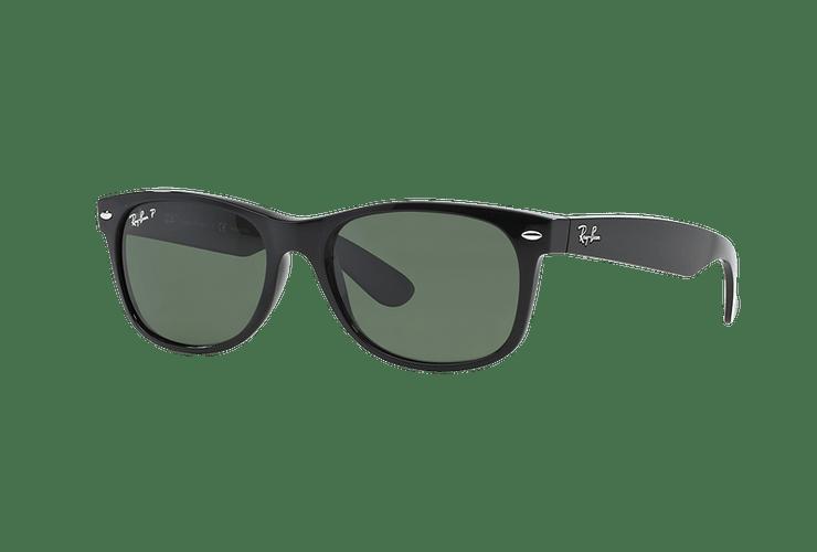 Ray Ban New Wayfarer Black lente Crystal Green Polarized cod. RB2132 901/58 58 - Image 1