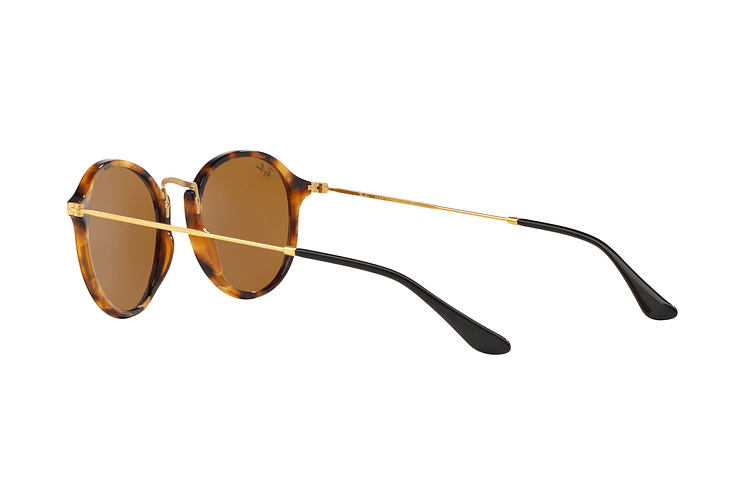 Ray Ban Round Fleck Spotted Brown Havana lente Brown cod. RB2447 1160 49 - Image 4