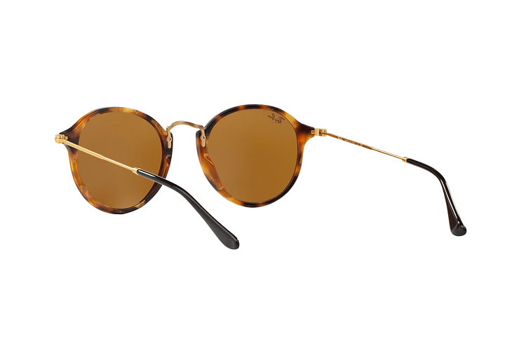 Ray Ban Round Fleck Spotted Brown Havana lente Brown cod. RB2447 1160 49 - Image 5