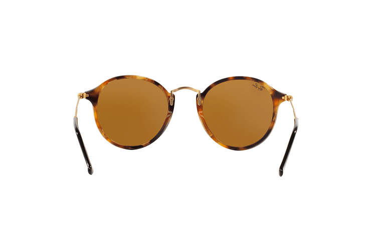 Ray Ban Round Fleck Spotted Brown Havana lente Brown cod. RB2447 1160 49 - Image 6