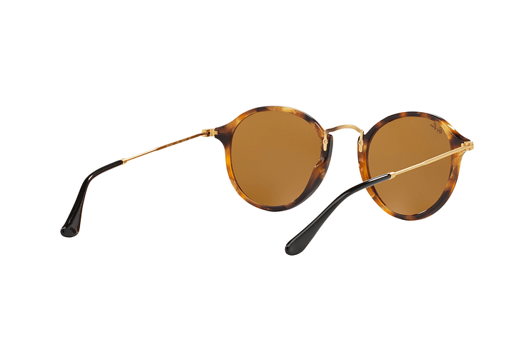Ray Ban Round Fleck Spotted Brown Havana lente Brown cod. RB2447 1160 49 - Image 7