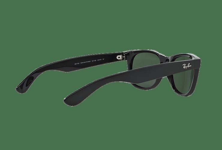 Ray Ban New Wayfarer Black lente Crystal Green Polarized cod. RB2132 901/58 58 - Image 8