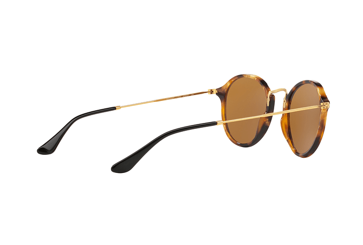 Ray Ban Round Fleck Spotted Brown Havana lente Brown cod. RB2447 1160 49 - Image 8