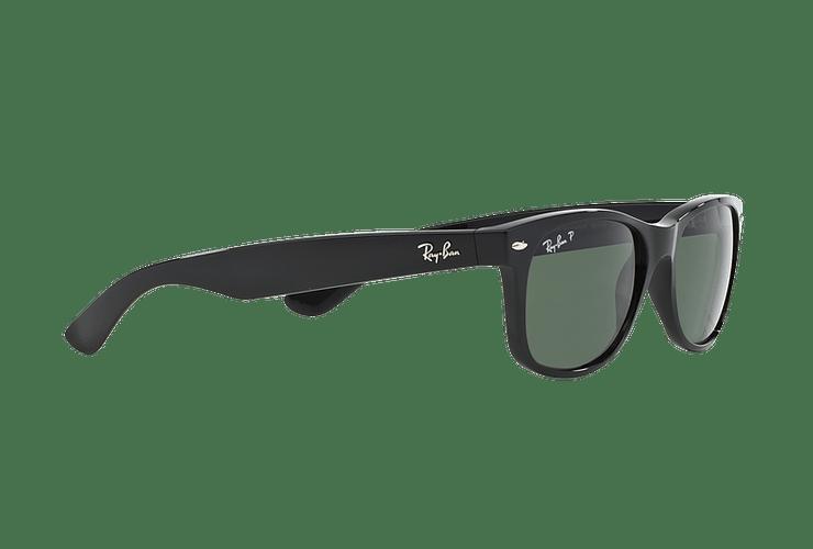 Ray Ban New Wayfarer Black lente Crystal Green Polarized cod. RB2132 901/58 58 - Image 10
