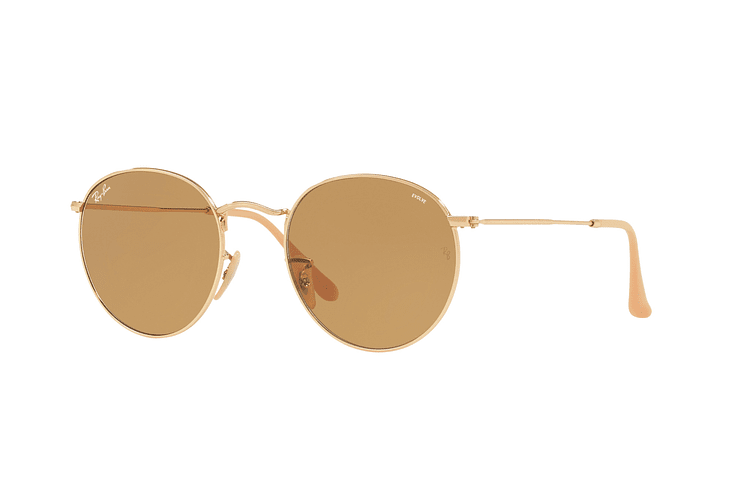 Ray Ban Round Metal Gold lente Brown Fotocromáticos cod. RB3447 90644I 50 - Image 1