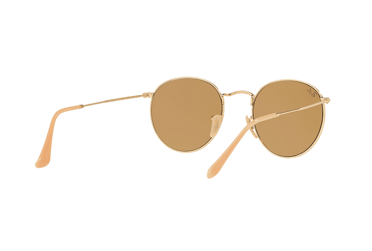 Ray Ban Round Metal Gold lente Brown Fotocromáticos cod. RB3447 90644I 50 - Image 7
