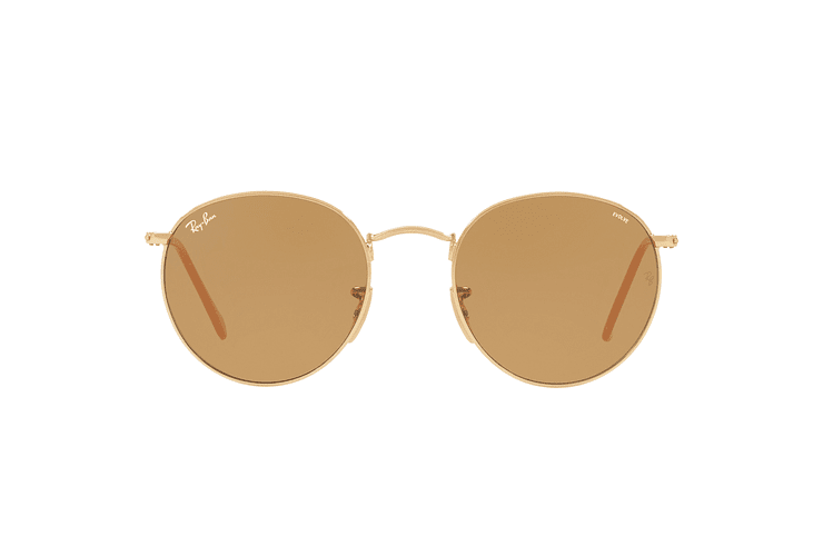 Ray Ban Round Metal Gold lente Brown Fotocromáticos cod. RB3447 90644I 50 - Image 12
