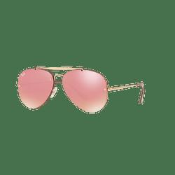Ray Ban Aviator Blaze Gold lente Pink Mirror cod. RB3584N 9052E4 58