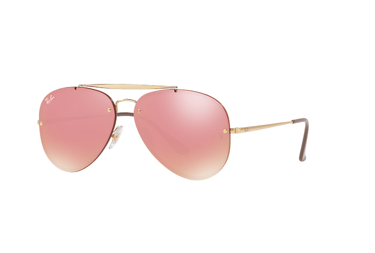 Ray Ban Aviator Blaze Gold lente Pink Mirror cod. RB3584N 9052E4 58 - Image 1