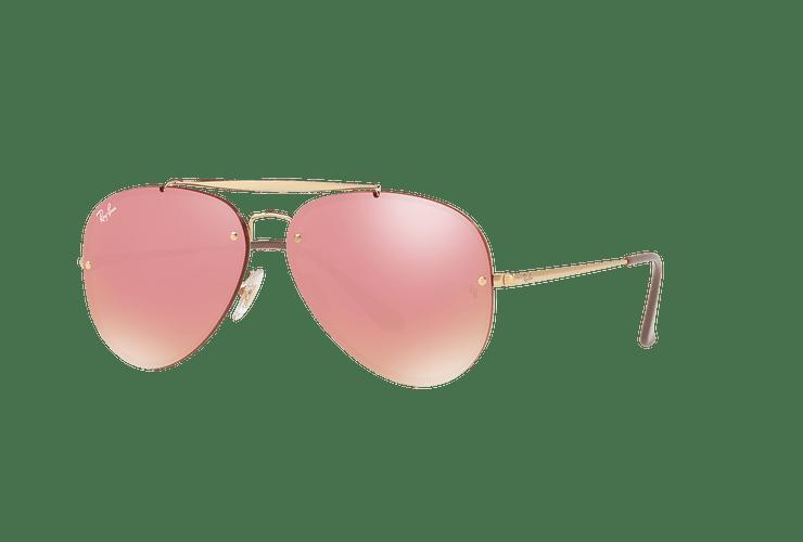 Ray-Ban Aviator Blaze Gold lente Pink Mirror cod. RB3584N 9052E4 58 - Image 1