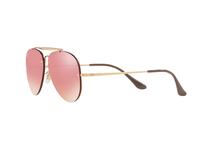 Ray Ban Aviator Blaze Gold lente Pink Mirror cod. RB3584N 9052E4 58 - Image 2