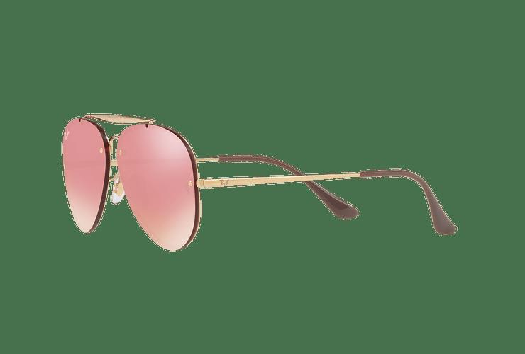 Ray-Ban Aviator Blaze Gold lente Pink Mirror cod. RB3584N 9052E4 58 - Image 2