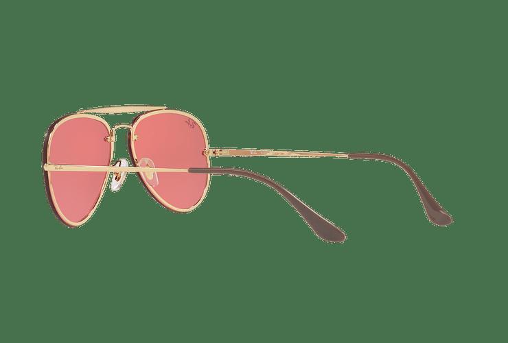 Ray Ban Aviator Blaze Gold lente Pink Mirror cod. RB3584N 9052E4 58 - Image 4