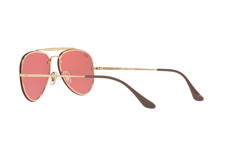 Ray-Ban Aviator Blaze Gold lente Pink Mirror cod. RB3584N 9052E4 58 - Image 4
