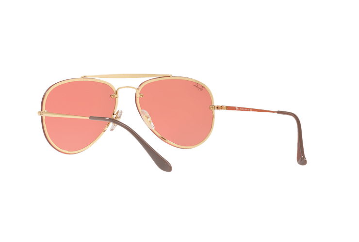 Ray Ban Aviator Blaze Gold lente Pink Mirror cod. RB3584N 9052E4 58 - Image 5