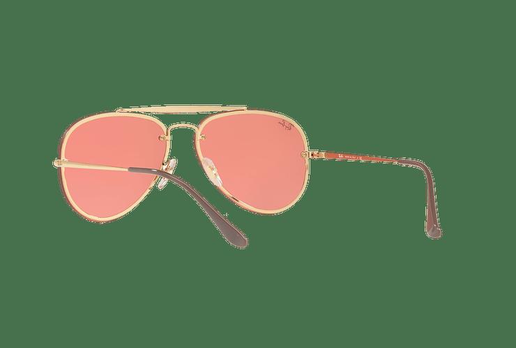 Ray Ban Aviator Blaze Gold lente Pink Mirror cod. RB3584N 9052E4 58 - Image 5