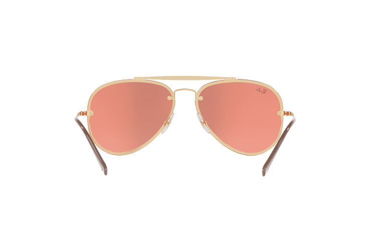 Ray-Ban Aviator Blaze Gold lente Pink Mirror cod. RB3584N 9052E4 58 - Image 6