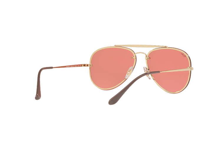 Ray Ban Aviator Blaze Gold lente Pink Mirror cod. RB3584N 9052E4 58 - Image 7