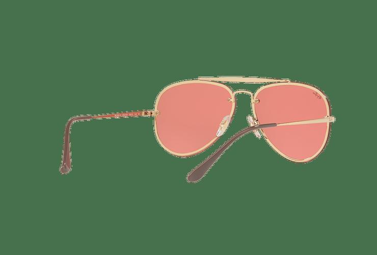 Ray Ban Aviator Blaze Gold lente Pink Mirror cod. RB3584N 9052E4 58 - Image 7